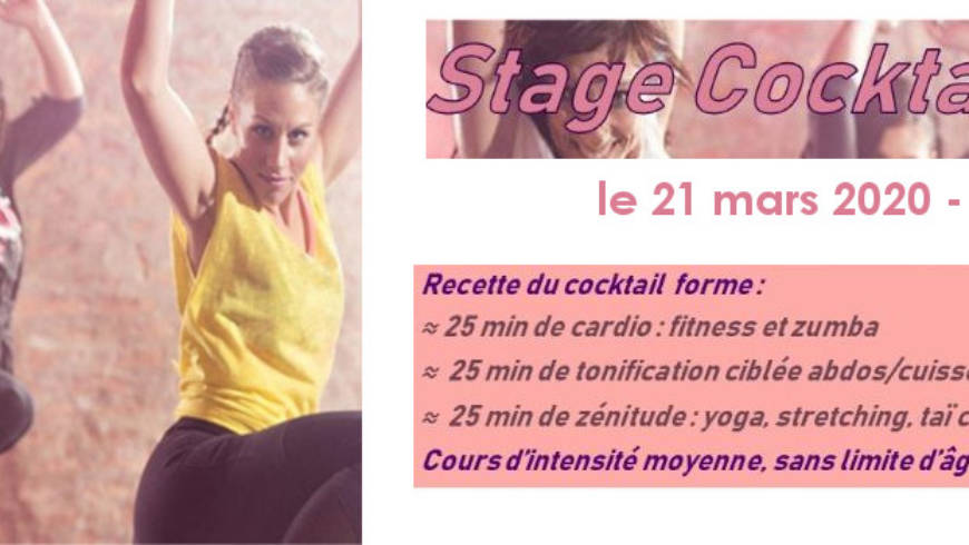 Annonce Stage cocktail forme