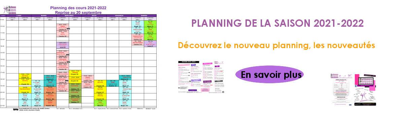 Annonce nouveau planning